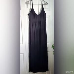 Old Navy Black Maxi Stretch Dress Size Large 👗